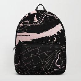 Philadelphia - Black and Rose Gold Backpack