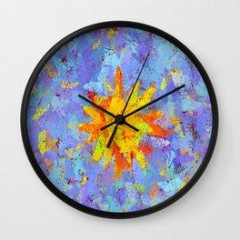Crinkled Sunshine Wall Clock