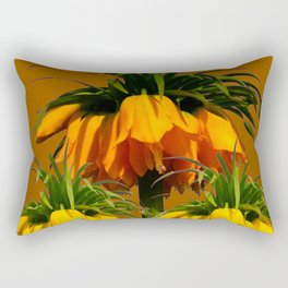 CARAMEL COLOR YELLOW CROWN IMPERIAL FLOWERS Rectangular Pillow