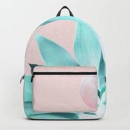 Stellar Agave and Full Moon - pastel aqua and pink Backpack