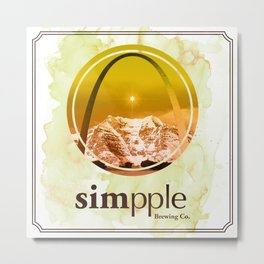 Simpple Brewery Gold Metal Print