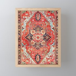 Heriz Azerbaijan Northwest Persian Rug Print Framed Mini Art Print