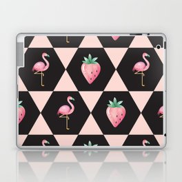 Strawberry Flamingo Laptop & iPad Skin