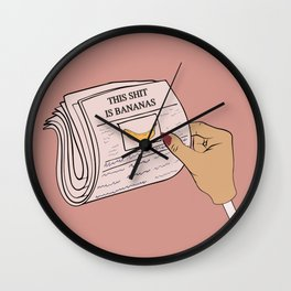 This #$%@ is Bananas Wall Clock