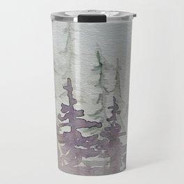 Purple Foggy Trees Travel Mug