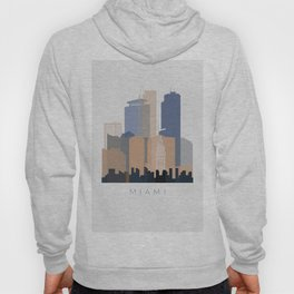Miami vertical skyline design Hoody