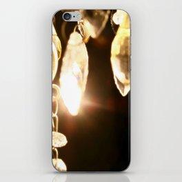 Chandelier Golden Brown iPhone Skin