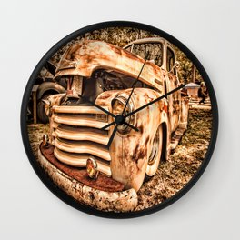 Old pickup ( Photo by Antal Ullmann ) Wall Clock