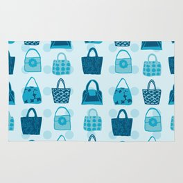 Handbag Heven Blues with Spots Rug