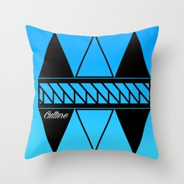 Culture Blue Throw Pillow