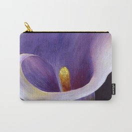 Lavender Calla Lily Carry-All Pouch
