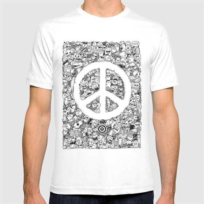Peace Doodle T Shirt By Kerbyrosanes Society6