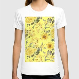 Vintage & Shabby Chic - Yellow Summer Flowers T-shirt