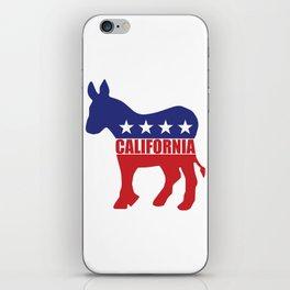 California Democrat Donkey iPhone Skin