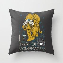 Books Collection: Sandokan, The Tigers of Mompracem Throw Pillow
