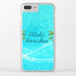 Aloha Beaches Clear iPhone Case