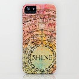 Shine Mandala iPhone Case