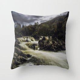 Riverfall Throw Pillow