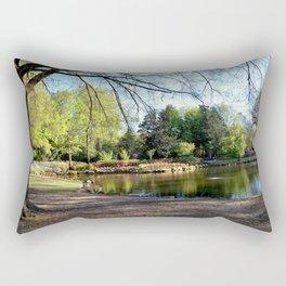 Muscogee (Creek) Nation - HonorHeights Park Azalea Festival, Duck Pond Rectangular Pillow