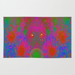Blowing Flower Bubbles Rug