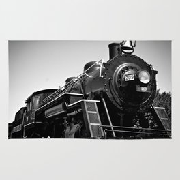 Long Black Train Rug