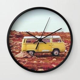 yellow Camper Wall Clock