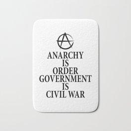 Anarchy quote Bath Mat