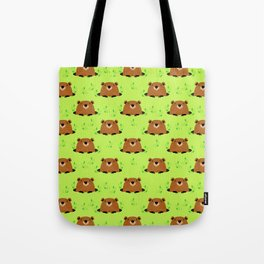 Adorable Groundhog Pattern Tote Bag