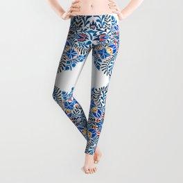 Blue-red mandala Leggings