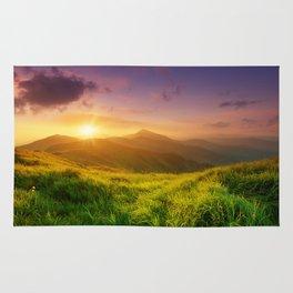 Purple Mountain Sunset Rug