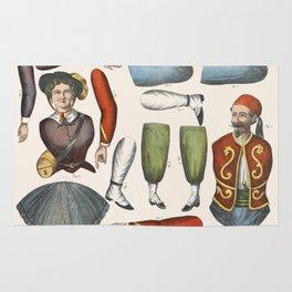 Vintage Paper Dolls, 1875 Rug