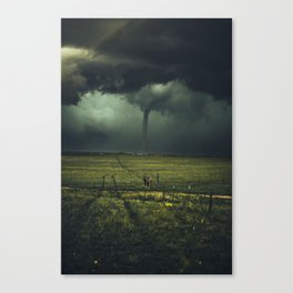 Tornado Coming (Color) Canvas Print