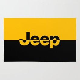 Jeep 'LOGO' Yellow Rug