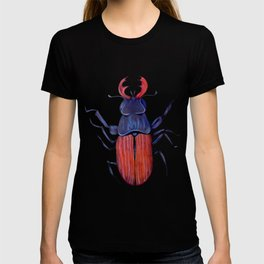 The measurement of space / stag-beetle T-shirt