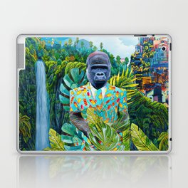 Gorilla in the jungle Laptop & iPad Skin