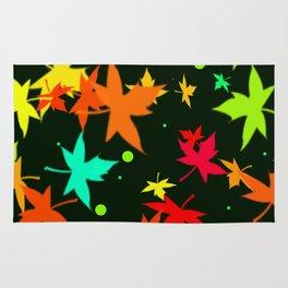 Forever Autumn Leaves Black 1 Rug