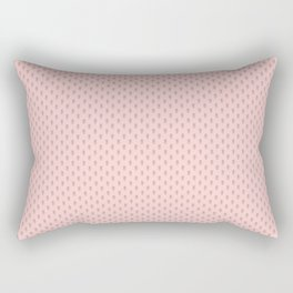 Hedgehog Forest Friends All-Over Repeat Pattern on Baby Pink Rectangular Pillow