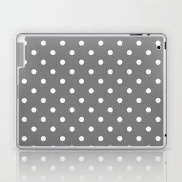 Grey & White Polka Dots Laptop & iPad Skin