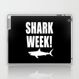 Shark Week, white text on black Laptop & iPad Skin