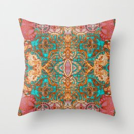 Pretty Boujee Boho Mandala Throw Pillow