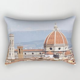 Florence cathedral dome photography Rectangular Pillow