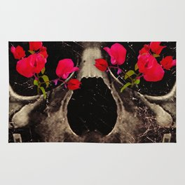 Death and Flowers Rug
