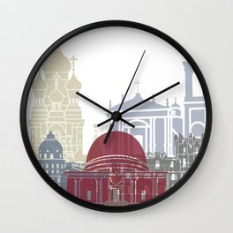 Nice skyline poster Wall Clock