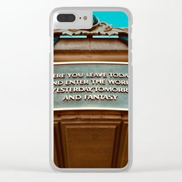 here you leave today... Clear iPhone Case