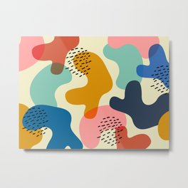 Camouflage Chic Metal Print