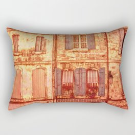 The Old Neighborhood, Rustic Buildings Rectangular Pillow