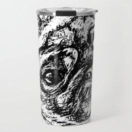Sketchy Pug Travel Mug