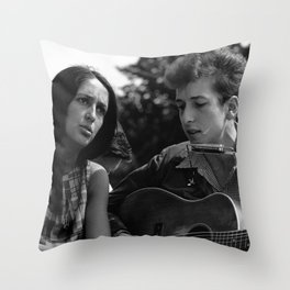 Bob Dylan and Joan Baez at the March on Washington, 1963 Throw Pillow