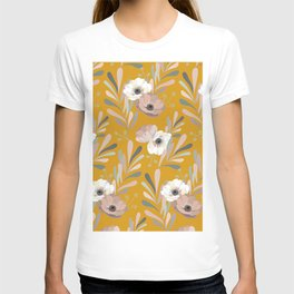 Anemones & Olives Yellow T-shirt