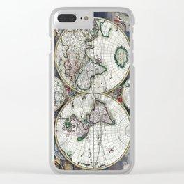 World Map - Nova totius terrarum orbis tabula Amstelodami - 1689 Clear iPhone Case